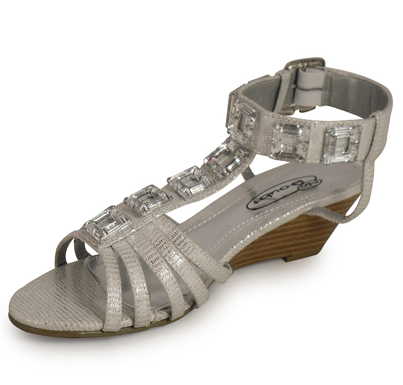 Awesome The Wedge Heel Detail On The NY VIP Gladiator Wedge Sandals Will Add A